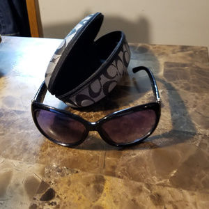 Coach Black sunglasses and case-used